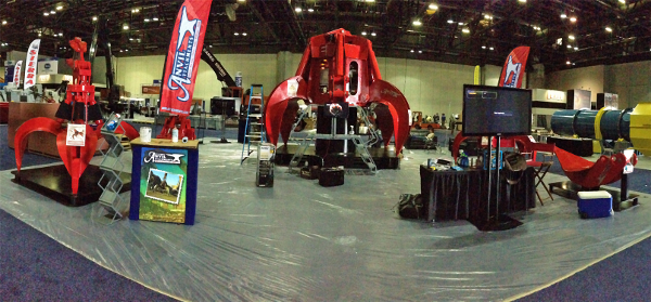 Panoramic shot of the booth during setup.