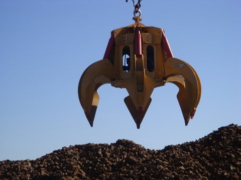 Diesel Hydraulic Orange Peel Grapple
